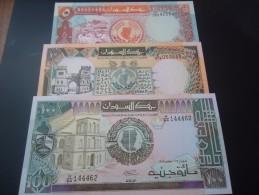 SUDAN RARE 5 - 10 - 100 POUNDS - UNC - - Soudan
