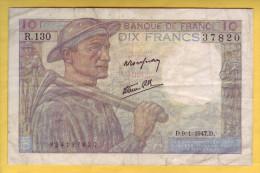 BILLET FRANCAIS - 10 Francs Mineur 9.1.1947 TB - 1871-1952 Frühe Francs Des 20. Jh.
