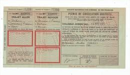 permis de circulation gratuite , soci�t� nationale des chemins de fer fran�ais , 1971
