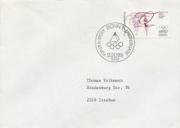 Gymnastics  Olympic Games 1984.  Fdc.     Germany  H-128 - Gymnastics