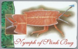 Telefoonkaart.- Singapore - Nymph Of Stink Bug, Singapore Telecom. $5. 113SIGB - Singapore