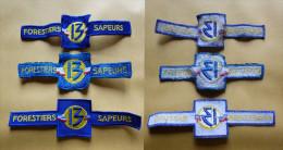 """Lot 3 Insignes Tissus """" Forestiers- Sapeurs - Equipment"""