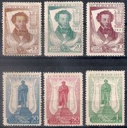 Russia 1937, Michel Nr 549A-54A, MH OG - Unused Stamps