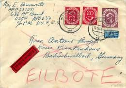 Bund Nr 130 X2, 133  Posthorn  Auf  Eilbote  Brief - Lettres & Documents