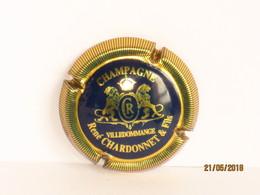 Capsules Ou Plaques De Muselet CHAMPAGNE  René  CHARDONNET & FILS  FOND BLEU - Champagne