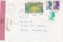 Env Reco Affr Y&T 2300 + 2181 + 2190 + 2276 Obl STRASBOURG R.P. Du 5.6.1985 - Marcophilie (Lettres)