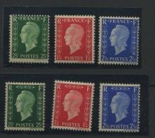 France 1944  NON EMIS DE LONDRES  6 Valeurs LUXE  Sans Charnière  Cote 960 Euros - Unused Stamps