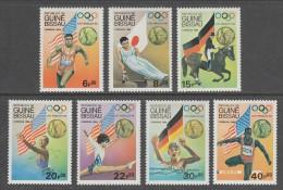 SERIE NEUVE DE GUINE-BISSAU - CHAMPIONS OLYMPIQUES AUX JEUX OLYMPIQUES DE LOS ANGELES N° Y&T 321 A 327 - Ete 1988: Séoul
