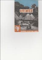 DEPLIANT TOURISTIQUE -GUINEE - ANNEE 1950 - Dépliants Touristiques