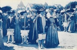 Batz (Loire-Inférieure) - Noce De Paludiers - Edition F. Chapeau - Carte Monochrome Bleue, Non Circulée - Marriages