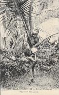 Nouvelle-Calédonie - Enfants Canaques Dégustant Des Noix De Cocos - Collection Barrau - Carte Non Circulée - Océanie
