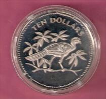 BELIZE 10 DOLLARS 1974 PROOF BIRD - Belize