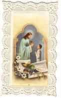 Très Belle Image Pieuse D´Enfant Recevant La Communion - Découpis -  Aucune Indication (date, éditeur) - Découpis