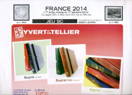 JEU FRANCE SUPRA YVERT 1 ER SEMESTRE 2014 - Pré-Imprimés