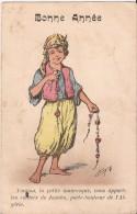 CPA FANTAISIE FEMME MODERNE BONNE ANNEE D ALGER 1922 Bon état écrite - Mujeres