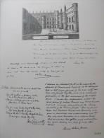 Planche MEMORIAL DES ALLIES 1914-1918. Bernard Naudin. 1926.  (Signataire Anglais) HENRY ARTHUR JONES - Manuscripts