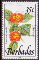 BARBADOS 1991 SG #895a 35c VF Used Wild Plants Imprint 1991 - Barbados (1966-...)
