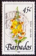 BARBADOS 1989 SG #896 45c VF Used Wild Plants Imprint 1989 - Barbados (1966-...)