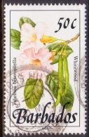 BARBADOS 1989 SG #897 50c VF Used Wild Plants Imprint 1989 - Barbades (1966-...)