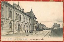 BELGIQUE - ARLON - AVENUE DES VOYAGEURS - CPA Cachet Postal 1905 - Arlon