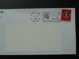 03/02/2015 Journée Européenne Protection Des Données Personnelles Flamme Monaco Sur Lettre Postmark On Cover - Storia Postale