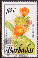 BARBADOS 1989 SG #901 80c VF Used Wild Plants Imprint 1989 - Barbados (1966-...)