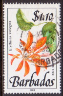 BARBADOS 1989 SG #902 $1.10 VF Used Wild Plants Imprint 1989 - Barbados (1966-...)