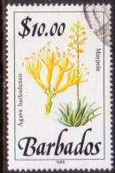 BARBADOS 1989 SG #905 $10 VF Used Wild Plants Imprint 1989 - Barbados (1966-...)