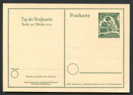BERLIN P 27 Postkarte Tag der Briefmarke ** 1951  Kat. 75,00 �