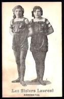 CPA ANCIENNE- FRANCE- LES SISTERS LAURENT ACROBATES- TRES GROS PLAN- - Entertainers