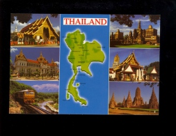 THAILAND  : Wat Phra Sing Chiang Mai  Bangkok Death Railway Kanchana Buri Mahathat Sukhokai Ayuttaya ( Train Zug ) - Tailandia