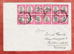 Brief, Segelschiff Im 12er-Block Mit Zusammendrucken, Durban Nach Berlin 1937 (75047) - Storia Postale