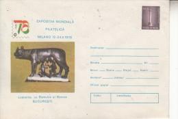 PHILATELIC EXHIBITION ITALIA '76 Postal Stationery Cover Romania 1996  - Registered Shipping! Envoi Enregistre! - Scultura
