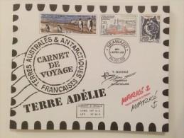 TAAF 2001, Carnet De Voyage En Terre Adelie - Booklets