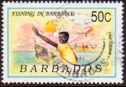 BARBADOS 1991 SG #953 50c VF Used Fishing - Barbados (1966-...)