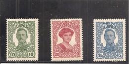 Austria-Hungr�a N� Yvert 69-71 (MH/*)