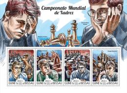 gb15122a Guinea Bissau 2015 Chess s/s