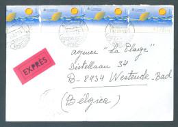 2 Scans : 1997 EXPRES Los Hinojosos To Westende (+ Stempel Bruxelles X + Gent )  (BrBox) - 1931-Aujourd'hui: II. République - ....Juan Carlos I