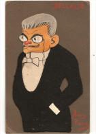 Caricature Délcassé En Feutrine Signée Henri Pierre Des Années 1900 - Illustratori & Fotografie