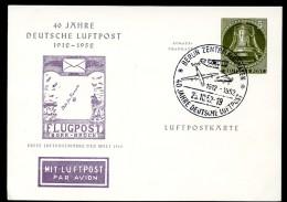 BERLIN PP12 C1/002c Privat-Postkarte 40 J. LUFTPOST Sost. 1952  NGK 60,00 € - Private Postcards - Used