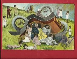 EVX-19  Accident De Voiture Qui Tourne à La Rigolade, Bébés Et Enfants. Cachet 1903 - Babies