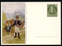 BERLIN PP12 D2/002 Privat-Postkarte Postillion Postkutsche ** 1953  NGK 40,00 € - Private Postcards - Mint