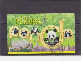 HONG KONG 1999 Used Block With Panda. - Beren