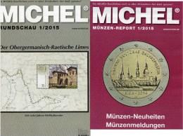 MICHEL Briefmarken Rundschau 1/2015 Sowie 1/2015-plus Neu 11€ New Stamps Of The World Catalogue And Magacine Of Germany - Deutsch