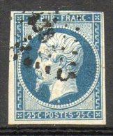 FRANCE - 1852 - Prince-président Louis-Napoléon - N° 10 - 25 C. Bleu (Oblitération Losange Petits Chiffres) - 1852 Luigi-Napoleone