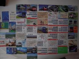 Japon - Lot de 50 cartes de transports - Th�me Train - Bus  - 0,50 € le lot sans prix de r�serve