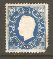 PORTUGESE INDIA    Scott  # 178*  VF MINT HINGED FAULTS - Portuguese India