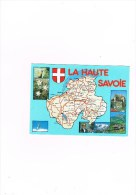 Cpm La Haute Savoie - Mapas
