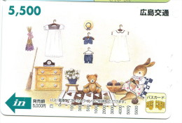 Japon - Titre de transport Bus Card : Ours, lapin...