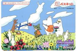 Japon - Titre de transport SF : Moomin Characters